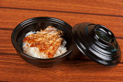 Eel with rice Stock Images