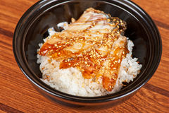 Eel with rice Stock Photos