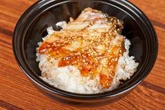 Eel with rice Stock Photos