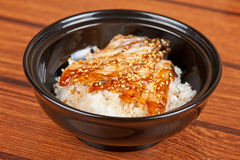 Eel with rice Stock Image