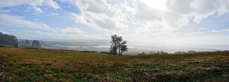 Eel River Estuary Panorama stock images