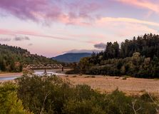 Eel River Sunset stock images