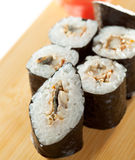 Eel Roll Royalty Free Stock Images