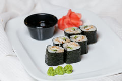 Eel rolls Royalty Free Stock Images