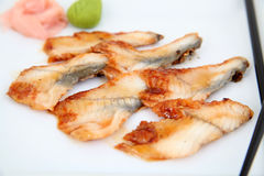 Eel sashimi, sushi.  Traditional japanese food Royalty Free Stock Photography
