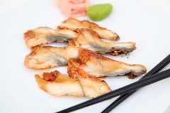 Eel sashimi, sushi. Royalty Free Stock Photos