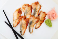 Eel sashimi. Traditional japanese food Stock Images
