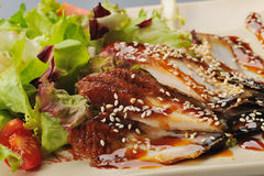 Eel with sesame Stock Photography