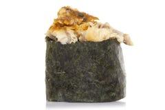 Eel sushi gunkan isolated stock photos
