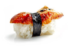 Eel sushi stock image