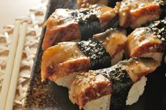 Eel sushi Royalty Free Stock Photo