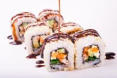 Eel sushi roll Stock Photos