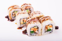 Eel sushi roll Stock Images