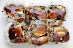 Eel Sushi Roll Stock Photography