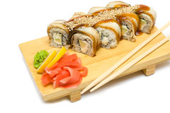 Eel sushi rolls Royalty Free Stock Photography