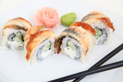 Eel sushi.  Traditional japanese food Royalty Free Stock Photography