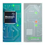 Eelectric board banners set Stock Photos
