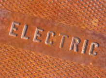 Eelectrical System Access Cover. Rusted Eelectrical System Access Cover Royalty Free Stock Photos