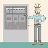 Eelectrician 免版税库存照片