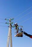 Eelectrician praca Zdjęcie Royalty Free