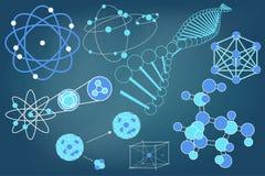 Eelements-Symbole und Entwürfe von Physik Lizenzfreie Stockbilder