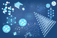 Eelements-Symbole und Entwürfe von Physik Stockbilder