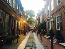Eelfre's alley. One of the most popular seems in Philadelphia Royalty Free Stock Photo