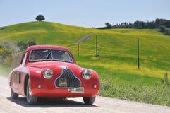 Een 1938 rood Fiat 508 MM. van Cs Stock Fotografie