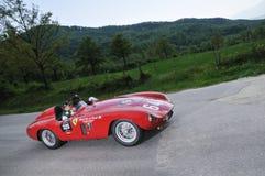 Een 1955 rode Ferrari 500 Mondial Stock Afbeelding