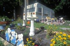Een aanhangwagenhuis dichtbij Fort Myers, Florida Stock Fotografie
