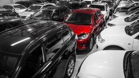 Een aantal verschillende auto's stock afbeelding