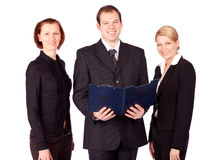 Een aantrekkelijk, divers commercieel team royalty-vrije stock afbeelding