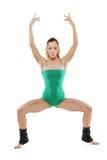 Een aantrekkelijke vrouwelijke pilatesinstructeur royalty-vrije stock foto