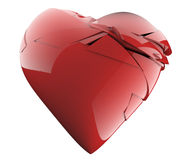 Een aardig gebroken hart Stock Foto's