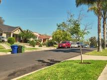Een aardige vrij woonwijk door Los Angeles royalty-vrije stock foto's