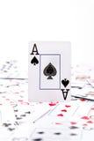 Een aas van spades stock afbeelding
