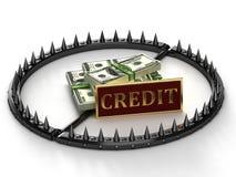 Een abstract beeld van de kredietslavernij. Royalty-vrije Stock Afbeelding