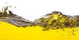 Een abstract beeld van gemorste olie Royalty-vrije Stock Afbeeldingen