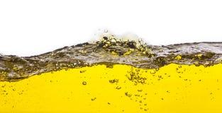 Een abstract beeld van gemorste olie Stock Fotografie