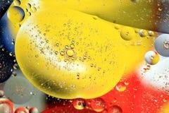 Een abstract behang van kleurrijke cirkels stock fotografie