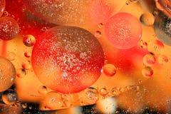 Een abstract behang van oranje cirkels royalty-vrije stock afbeeldingen