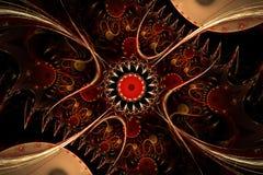 Een abstract computer geproduceerd fractal ontwerp stock illustratie