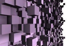 Een abstract kubusontwerp - een 3d beeld Royalty-vrije Stock Afbeeldingen