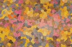 Een abstract mozaïek multicolored patroon Stock Foto
