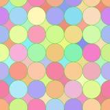 Een abstract mozaïek naadloos patroon. Stock Illustratie