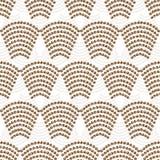 Een abstract naadloos patroon Het bruine palet van het boogpatroon Royalty-vrije Stock Foto's
