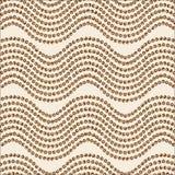 Een abstract naadloos patroon Het bruine palet van het golfornament Stock Foto