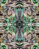 Een abstract patroon van bladeren en gras Royalty-vrije Stock Afbeelding