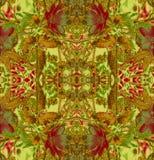Een abstract patroon van bloemen en bladeren Royalty-vrije Stock Afbeelding
