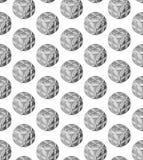 Een abstract patroon van sferische voorwerpen royalty-vrije illustratie
